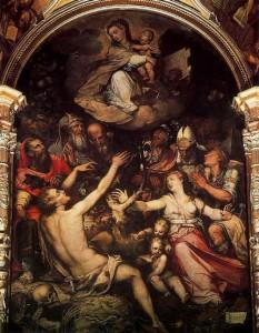Alegoría de la Inmaculada - La Gamba - Luis de Vargas, 1.561. Catedral de Sevilla.