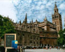 Cathedral of Seville with guide for schools